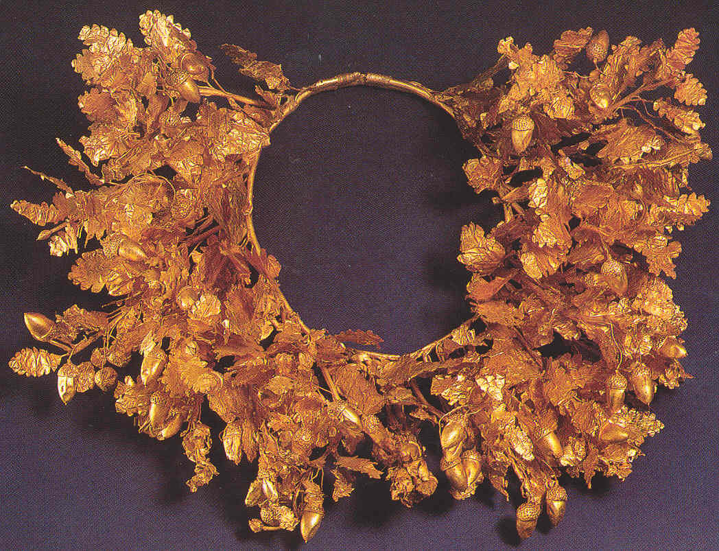 Gold wreath from the Royal Tombs at Vergina
